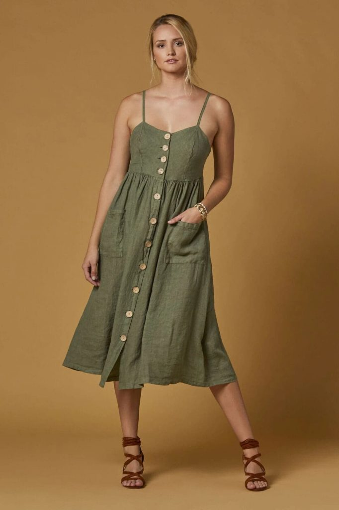 Lilo Linen Dress $110.00