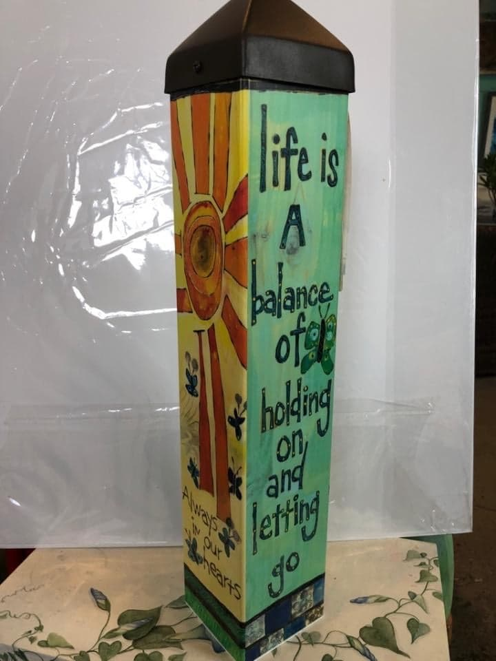 "Life is a balance $57.95 | 20""L"
