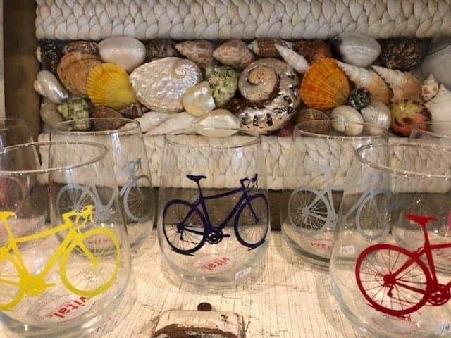Bicycle Wine Glasses $20