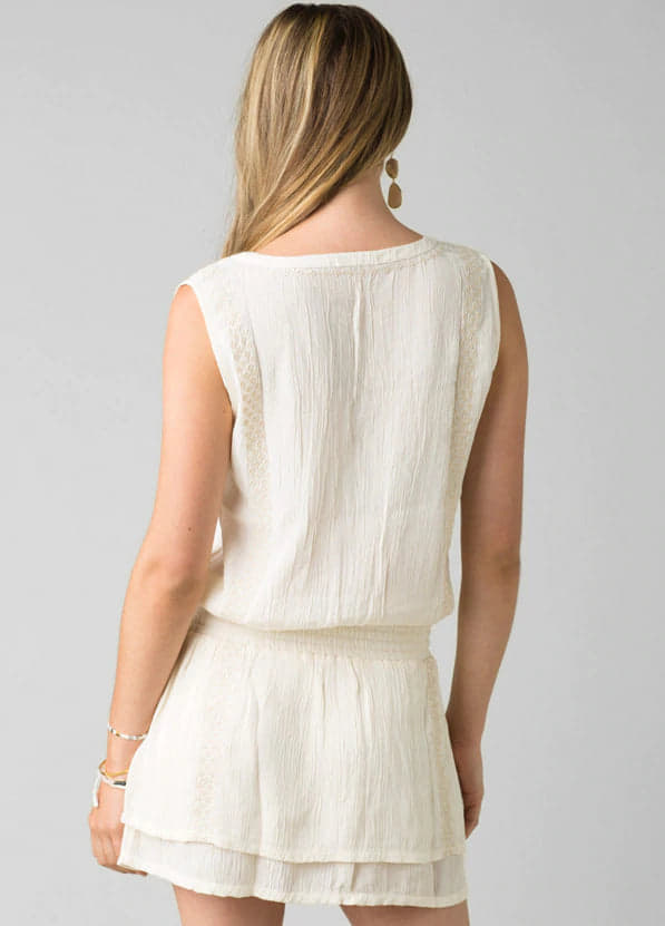 Prana Seaview Sky Dress Bone $85.00